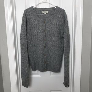 Norm Thompson 100% Wool Gray Sweater